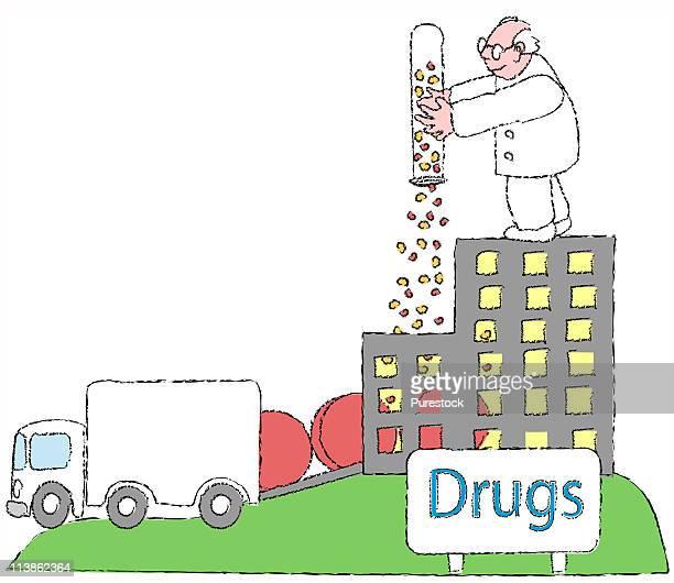 rolling pills, illustration - hair color stock illustrations, clip art, cartoons, & icons