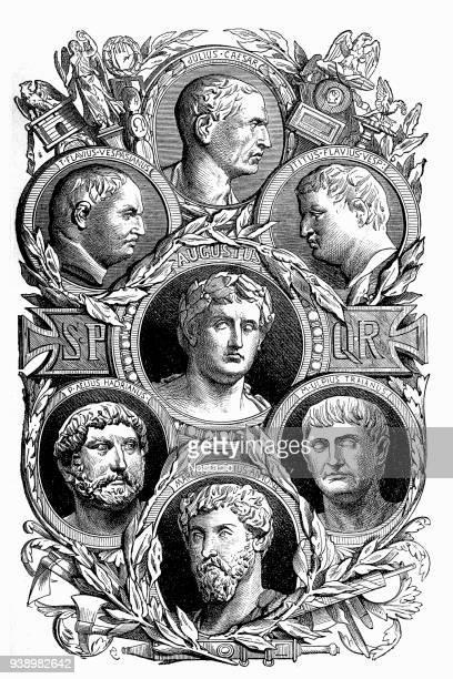 roman caesars or emperors - emperor stock illustrations, clip art, cartoons, & icons