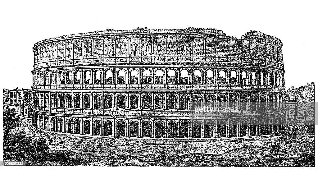 Roman Colosseum : stock illustration
