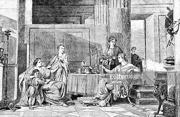 Roman Dinner Party - Victorian Illustration