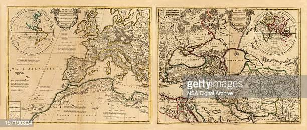roman empire antique map - ancient rome stock illustrations, clip art, cartoons, & icons