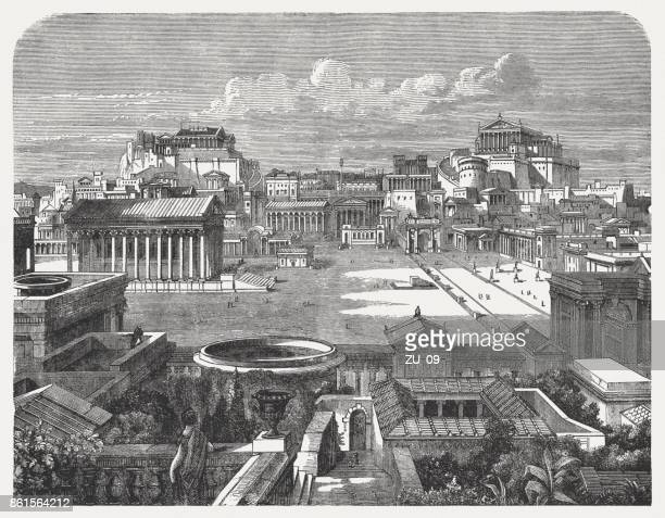 Roman Forum and Capitoline in the ancient Rome, published 1886