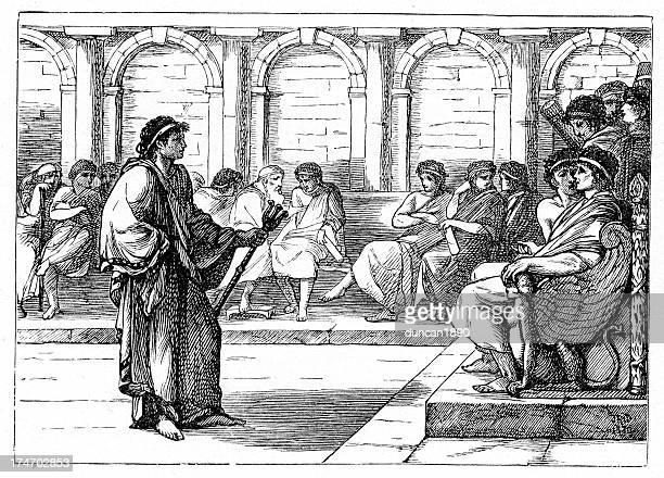roman forum - senat stock-grafiken, -clipart, -cartoons und -symbole
