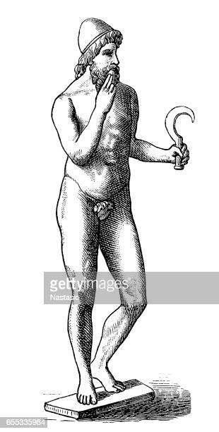 bildbanksillustrationer, clip art samt tecknat material och ikoner med romerska guden saturnus - gud