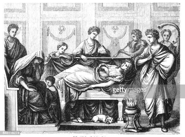 羅馬家庭葬禮 - 守夜 幅插畫檔、美工圖案、卡通及圖標