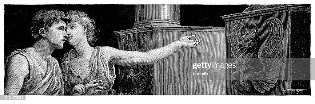 Roman Lovers : stock illustration