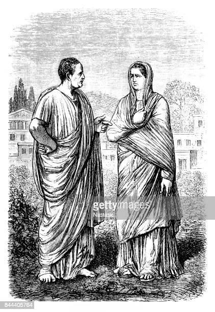 Roman man and woman
