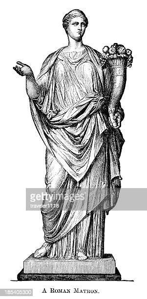 ローマ matron - 豊穣の角点のイラスト素材/クリップアート素材/マンガ素材/アイコン素材