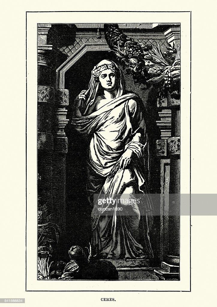 Roman Mythology - Ceres Goddess of agriculture : stock illustration