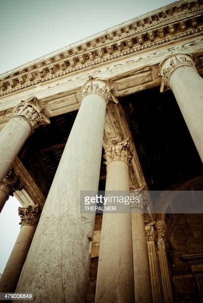 roman pantheon columns - corinthian stock illustrations, clip art, cartoons, & icons
