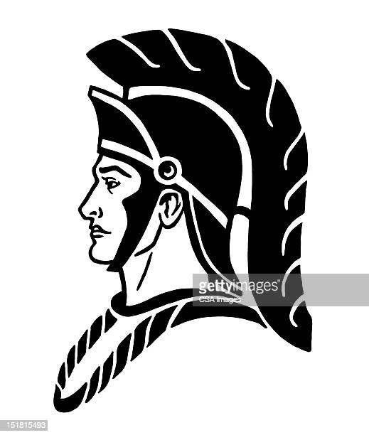 roman soldier - helmet stock illustrations