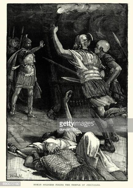Roman soldiers destroying the Temple of Jerusalem