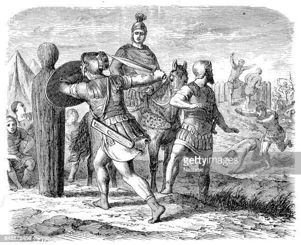 Romeinse soldaten zich klaar voor de strijd