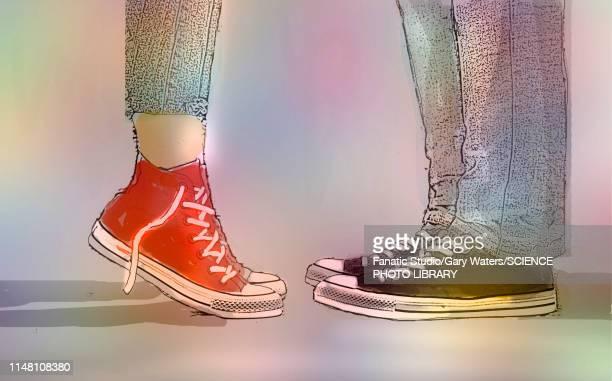 romance, conceptual illustration - couple relationship stock illustrations