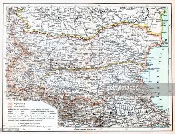 Romania ,Bulgaria map