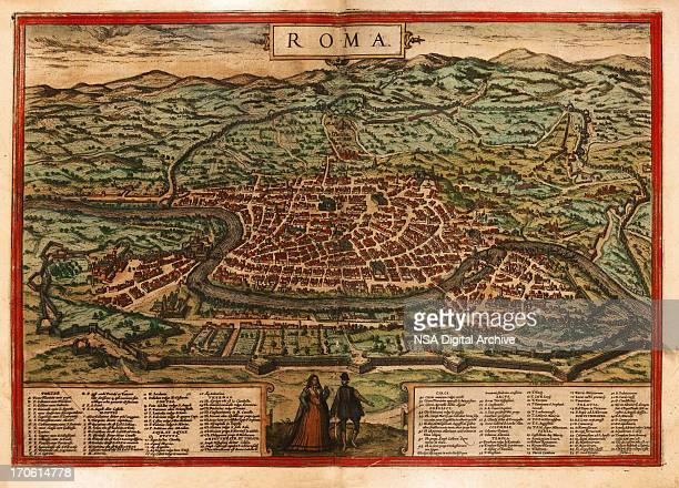 Rome Antique Map Close-up