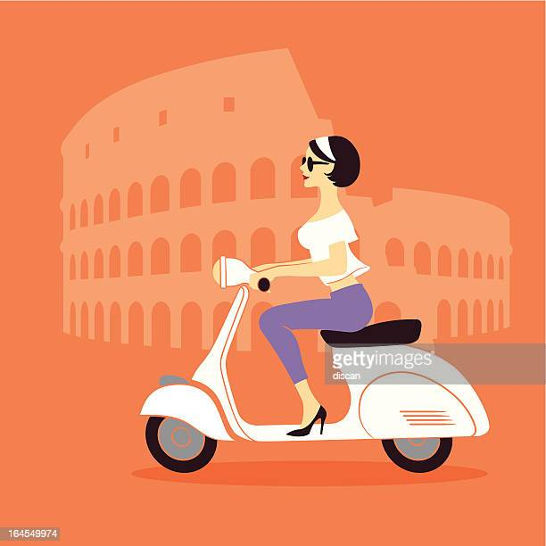 Rome scooter girl
