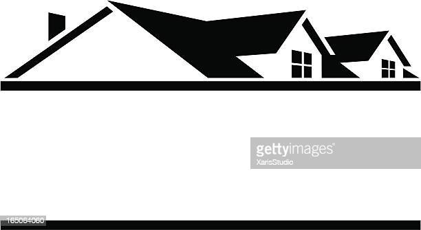 rooftop logo - rooftop stock illustrations