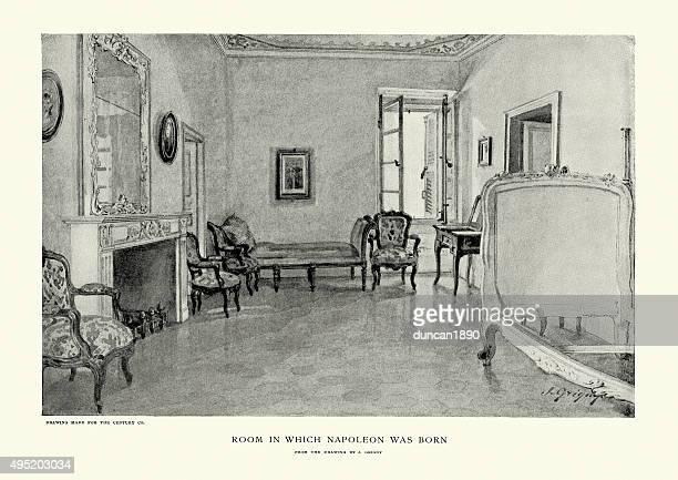 お部屋のナポレオン 1 世が生まれました。 - 名作 発祥の地点のイラスト素材/クリップアート素材/マンガ素材/アイコン素材
