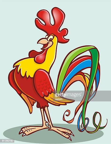 rooster - cockerel stock illustrations, clip art, cartoons, & icons