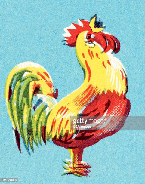 ilustrações de stock, clip art, desenhos animados e ícones de rooster - acordar