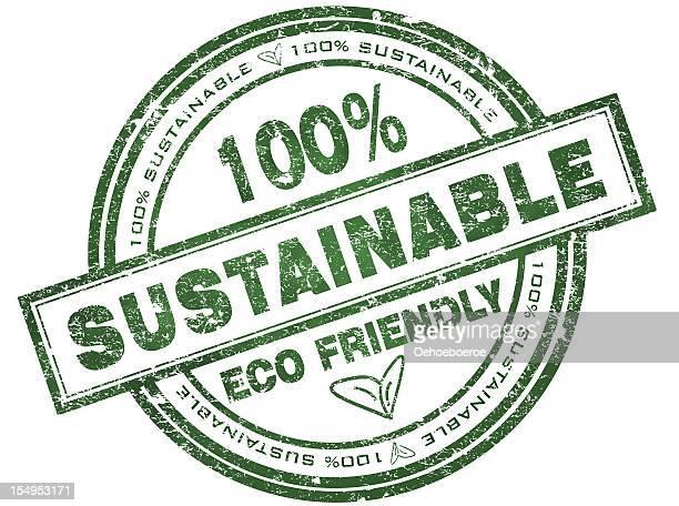 ilustrações, clipart, desenhos animados e ícones de o carimbo com texto 100% sustentáveis - produto local
