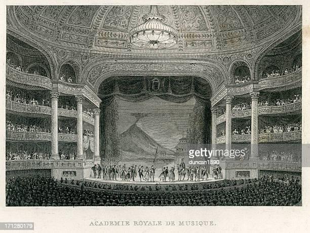 royal academy of music, paris - opera stock illustrations
