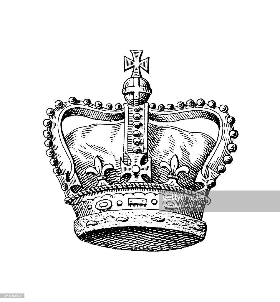 Royal Crown of the United Kingdom | Historic Monarchy Symbols : stock illustration