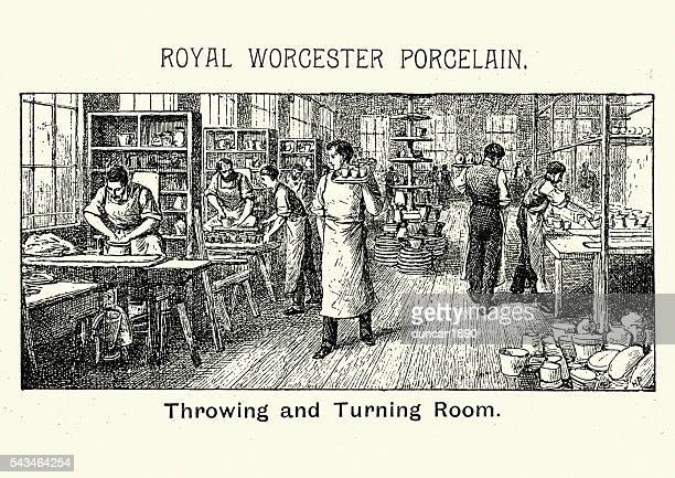 Royal Worcester Porcelain - Throwing and Turning Room