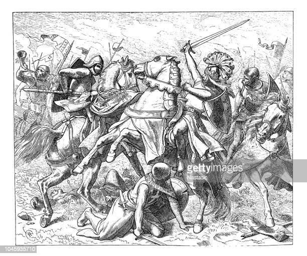 Rudolf de Swabia mortalmente herido