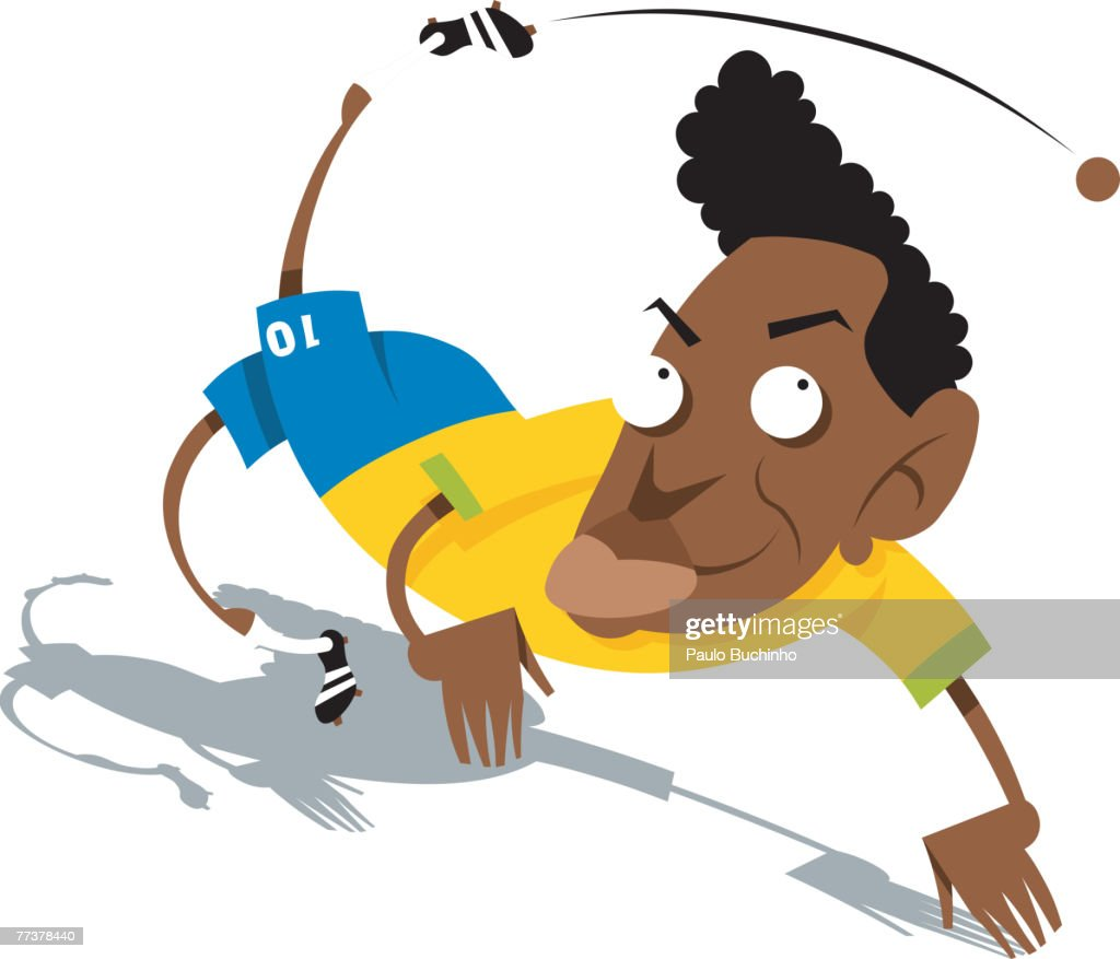 A rugby player kicking the ball : Illustration