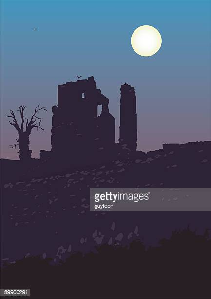 ruined castle - megalith stock illustrations, clip art, cartoons, & icons