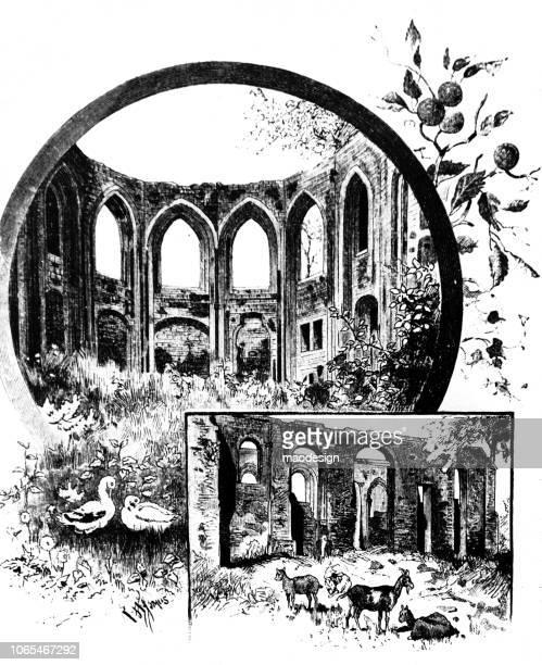 Ruinas de un antiguo acueducto - 1888