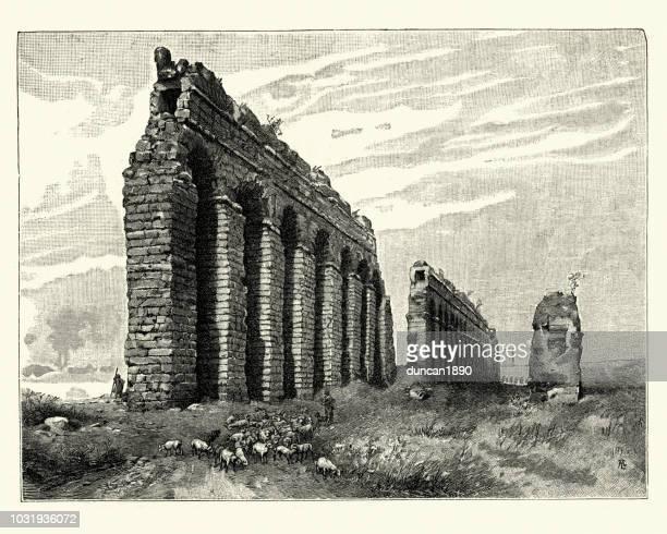 Ruinas del antiguo acueducto romano, Campagna