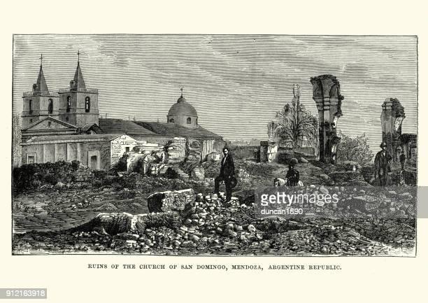 Ruins of Church of San Domingo,  Mendoza, Argentina, 19th Century