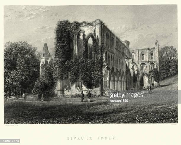 Ruins of Rievaulx Abbey, 19th Century