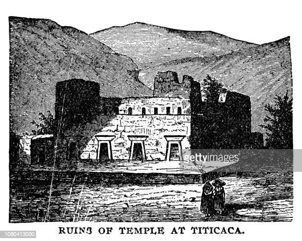 Ruins of temple at Lake Titicaca
