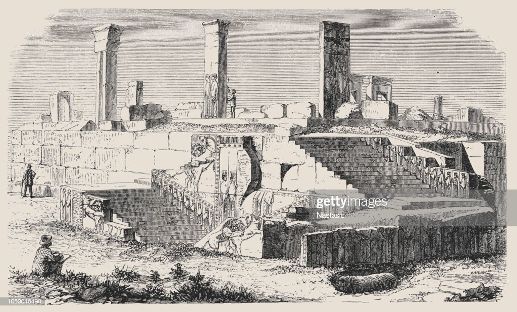 Ruins Of The Palace Of Xerxes In Persepolis Iran High Res Vector Graphic Getty Images