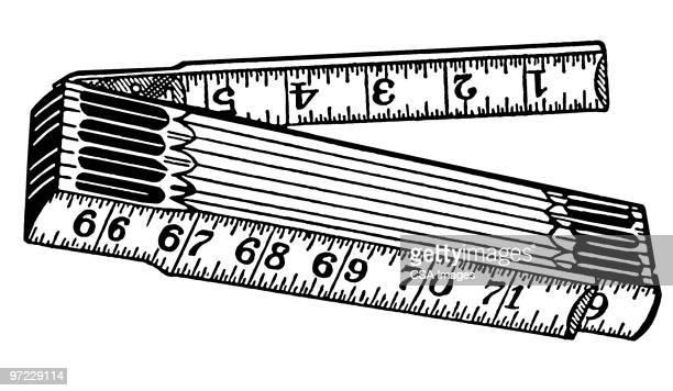 ruler - instrument of measurement stock illustrations