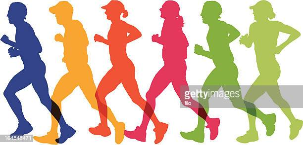 runners - competitive sport stock illustrations, clip art, cartoons, & icons