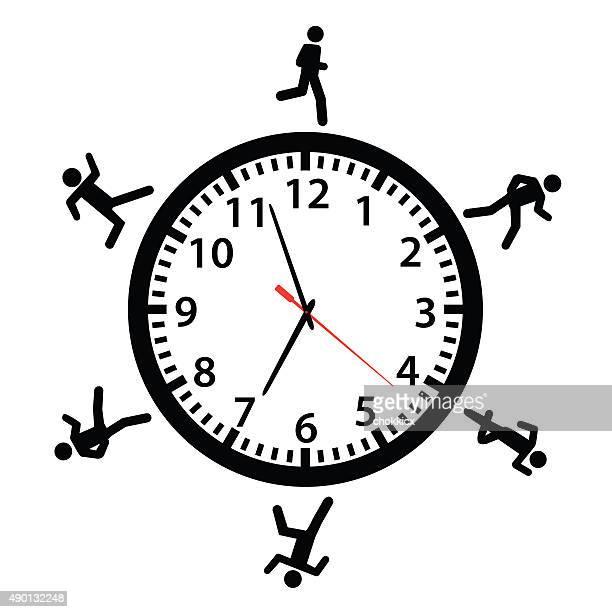 running around the clock - religious dress stock illustrations, clip art, cartoons, & icons
