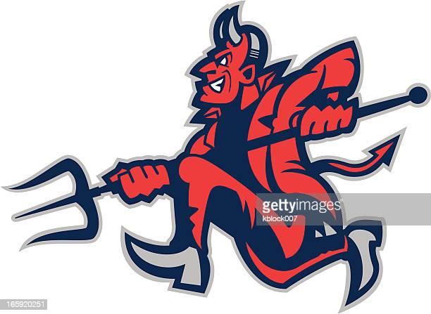 Running Devil Mascot