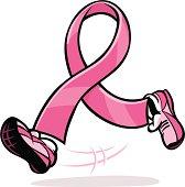 running pink ribbon