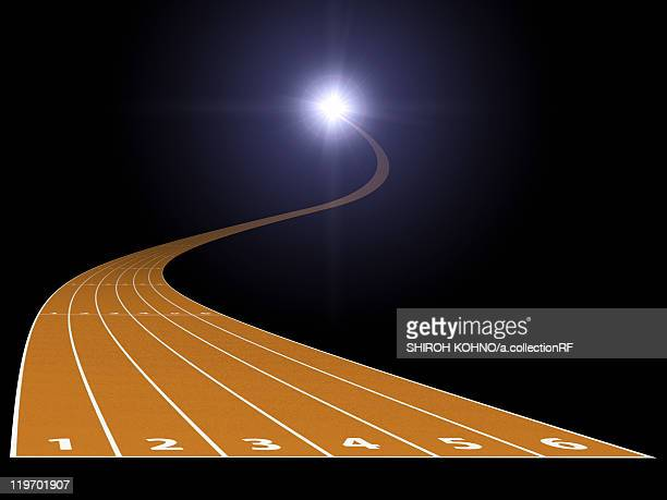 running track going into the light, digitally generated image - steep stock illustrations, clip art, cartoons, & icons