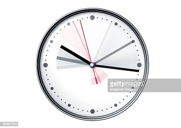 running watch hands on white background - urgency stock illustrations