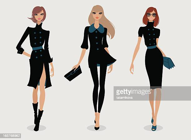 runway - model stock illustrations