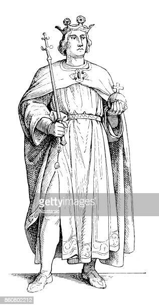 rupert of germany from the house of wittelsbach - emperor stock illustrations, clip art, cartoons, & icons
