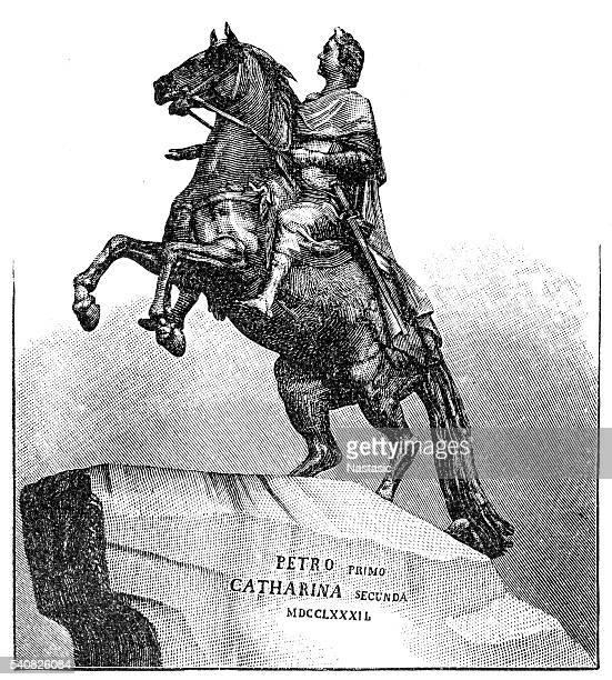 russian emperor peter the great - czar stock illustrations