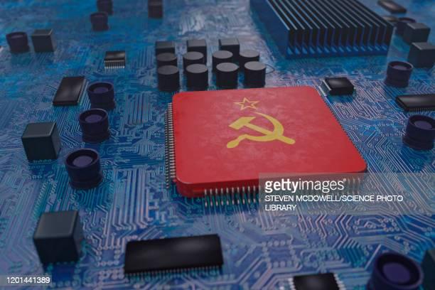 russian hacking, conceptual illustration - russia stock illustrations
