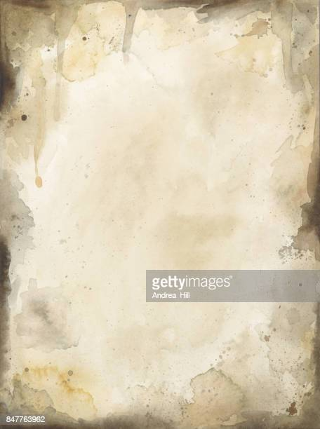 Rustic Brown Hand-Painted Watercolor Background